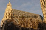 The roof of the St. Stephan's Catherdral is famous for its colourful tessellated design