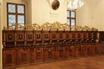 In the sacristy, it is still possible to view some old furniture that is from the time before the Jesuit Church became baroque